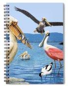 Birds With Strange Beaks Spiral Notebook