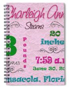 Birth Announcement Spiral Notebook