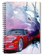 Birth Of A Corvette Spiral Notebook