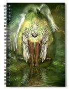 Birth Of A Swan Spiral Notebook