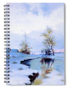 Birth Of Spring In The Snow Spiral Notebook