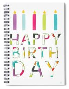 Birthday Candles- Art By Linda Woods Spiral Notebook