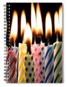 Birthday Candles Spiral Notebook