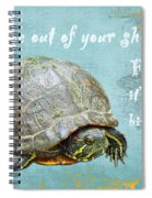 Birthday Card - Painted Turtle Spiral Notebook