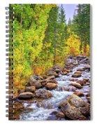 Bishop Creek In Autumn Spiral Notebook