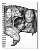 Bison Indian Montage Spiral Notebook