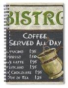Bistro Chalkboard  Spiral Notebook