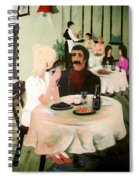 Bistro Mural Detail 1 Spiral Notebook