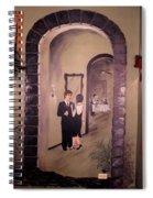Bistro Mural Detail 6 Spiral Notebook