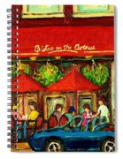 Bistro On Greene Avenue In Montreal Spiral Notebook
