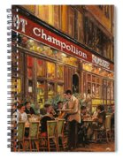 Bistrot Champollion Spiral Notebook