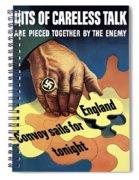 Bits Of Careless Talk Spiral Notebook