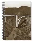 Bixby Creek Aka Rainbow Bridge Bridge Big Sur Photo  1937 Spiral Notebook