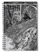 Bixby Creek Bridge Big Sur Photo  Circa 1939 Spiral Notebook