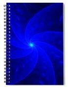 Bkue Pinwheel Spiral Notebook