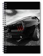 Black 1967 Mustang Spiral Notebook