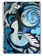 Black And Bleu Spiral Notebook