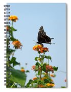 Black And Blue Spiral Notebook