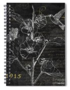 Black And Gold Hummingbirds 1 Spiral Notebook
