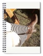 Black And Gray Stockings Spiral Notebook
