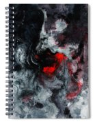 Black And Red Abstract Painting  Spiral Notebook