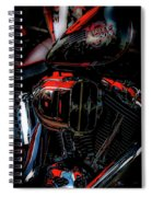 Black And Red Harley 5966 H_2 Spiral Notebook