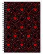 Black And Red Hearts Spiral Notebook