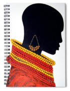 Black And Red - Original Artwork Spiral Notebook
