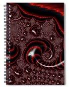 Black And Red Tornados Spiral Notebook