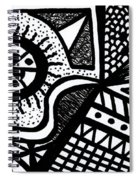 Black And White 14 Spiral Notebook