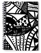 Black And White 16 Spiral Notebook
