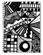 Black And White 18 Spiral Notebook