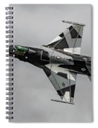 Black And White 18th Aggressor Sqn Viper Topside Against The Grey Spiral Notebook