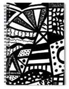 Black And White 19 Spiral Notebook