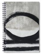 Black And White Abstract 2- Art By Linda Woods Spiral Notebook