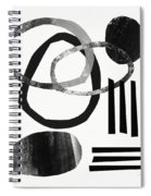 Black And White- Abstract Art Spiral Notebook