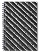 Black And White Abstract Lines Spiral Notebook