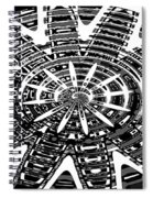 Black And White Abstracts Spiral Notebook