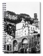 Black And White Amalfi Spiral Notebook