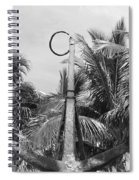 Black And White Anchor Spiral Notebook