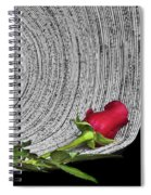 Black And White And Red All Over Spiral Notebook