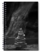 Black And White Balanced Stones Spiral Notebook