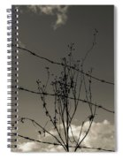 Black And White Barbwire And Branch Spiral Notebook