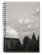 Black And White Barn Spiral Notebook