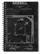 Black And White Baseball Game Patent Spiral Notebook