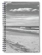 Black And White Beach Spiral Notebook
