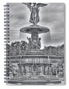 Bedesta Statue Black And White  Spiral Notebook