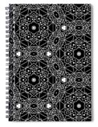 Black And White Boho Pattern 3- Art By Linda Woods Spiral Notebook