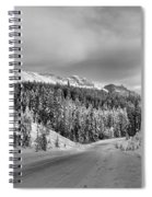 Black And White Bow Valley Parkway - Winter Spiral Notebook