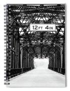 Black And White Bridge Spiral Notebook